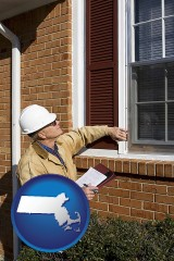 massachusetts a building inspector inspecting home windows
