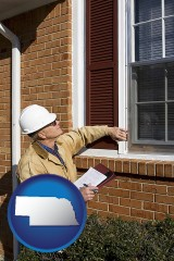 nebraska a building inspector inspecting home windows