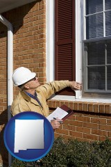 new-mexico a building inspector inspecting home windows