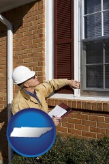 tennessee a building inspector inspecting home windows